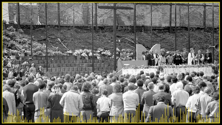 A memorial service took place at the ground after the fire