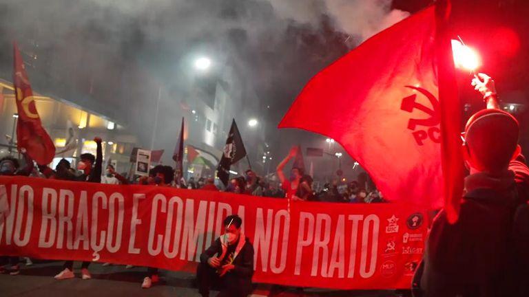 Protests against Brazilian leader Jair Bolsonaro