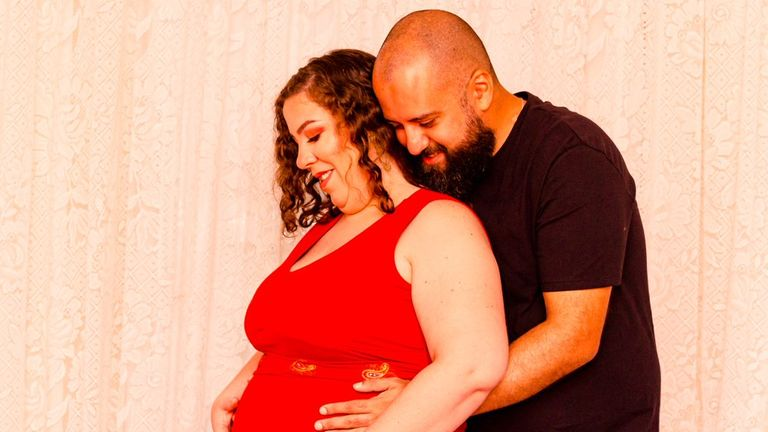 Vanessa Silverio, 33, seen with husband Douglas, died from COVID while pregnant and her daughter was delivered by caesarean section
