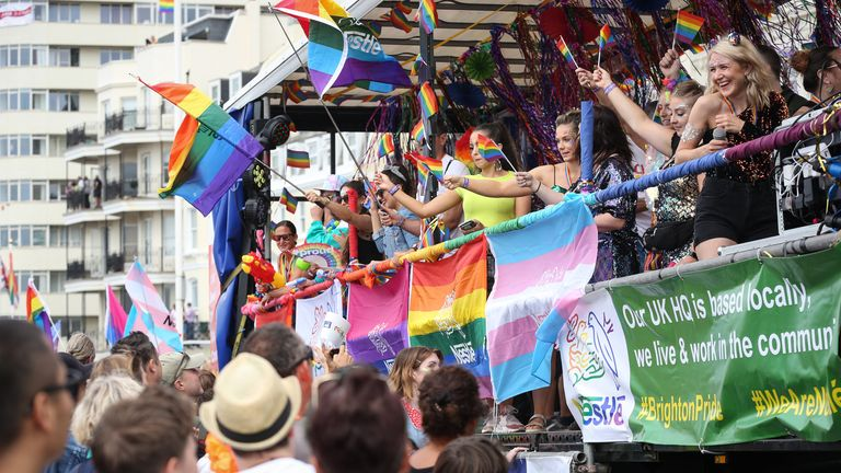 Brighton Pride takes place to celebrate the LGBT community every year