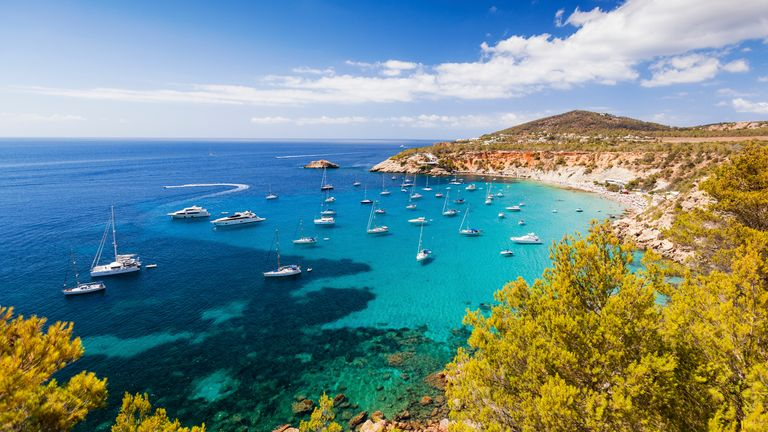 Cala d'Hort beach in Ibiza