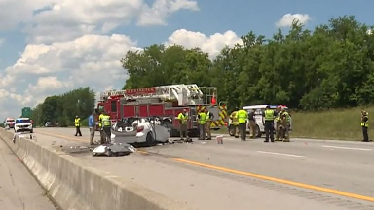 Emergency services at the scene. Pic: WKYT