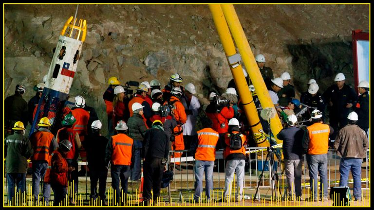The Chilean miners were stuck underground for more than two months