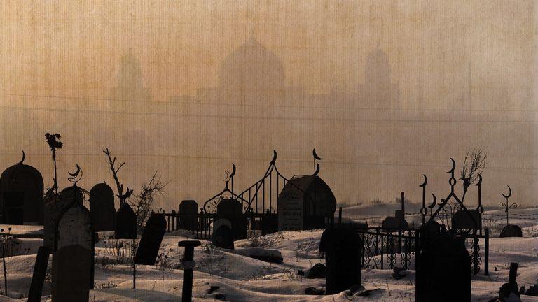 A Uighur cemetery in Urumqi. Pic: AP
