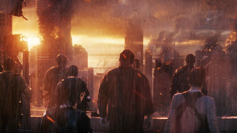 Chris Pratt stars in The Tomorrow War. Pic: Amazon Studios
