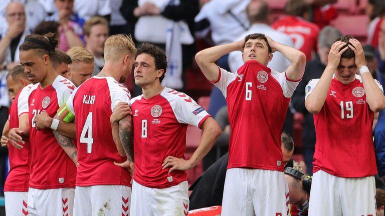Euro 2020: Denmark captain Simon Kjaer hailed a hero for 'life-saving'  response to Christian Eriksen collapse | World News | Sky News