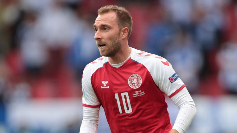 Denmark's Christian Eriksen pictured during the match against Finland