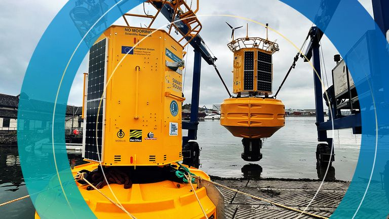 The most advanced autonomous buoy ever developed in the UK has been launched off the coast of Devon to monitor the health of our oceans.