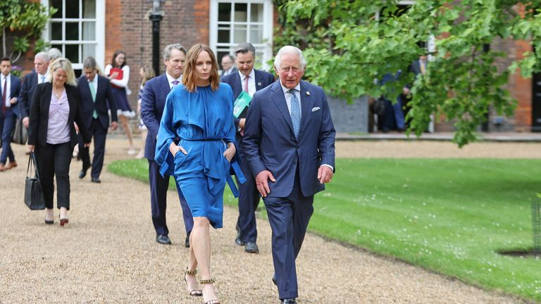 Stella McCartney and Prince Charles announced the Terra Carta Transition Coalitions, an organized, global collective working together to drive investment towards a sustainable future
