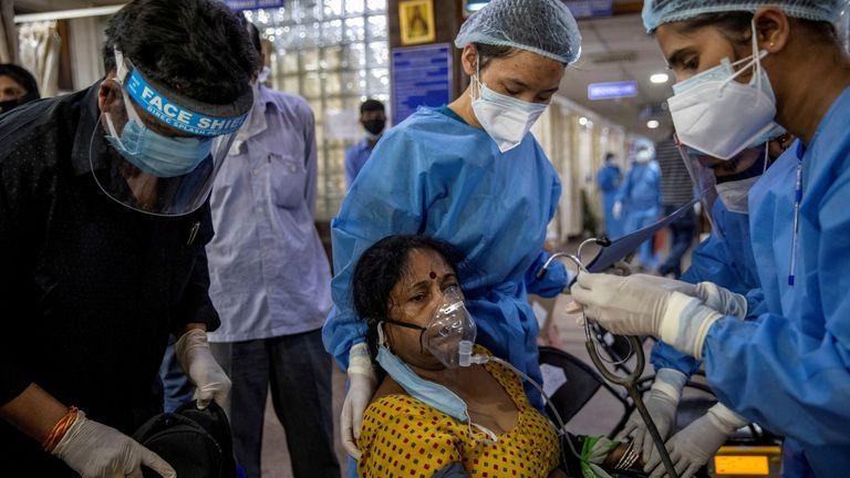 Emergency ward at Holy Family hospital in New Delhi, India,