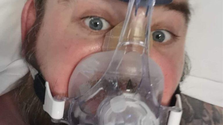 Graham Horsfall spent more than four months in an ICU ward. Pic: Graham Horsfall