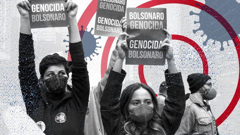 'Bolsonaro out!' - Protesters descend on Sao Paulo