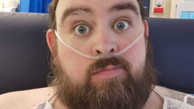 Graham Horsfall, 34, fell critically ill with COVID-19. Pic: Graham Horsfall