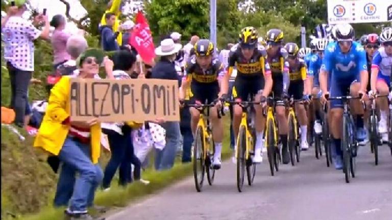 Tour de France spectator. Pic: Gendarmerie du Finistere