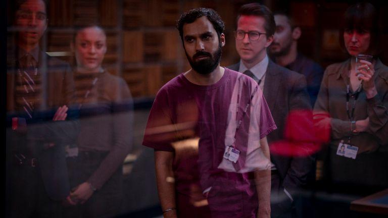 Criminal UK S2. Picture shows: Sandeep Singh (KUNAL NAYYER). Pic: Netflix/ Colin Hutton