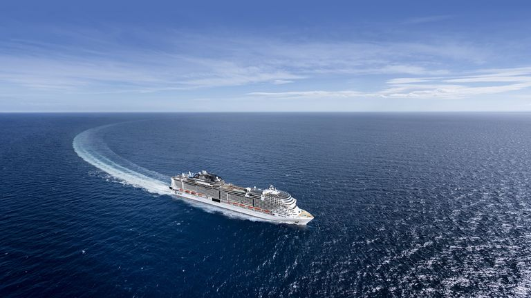 The MSC Virtuosa was set to dock in Scotland for half a day