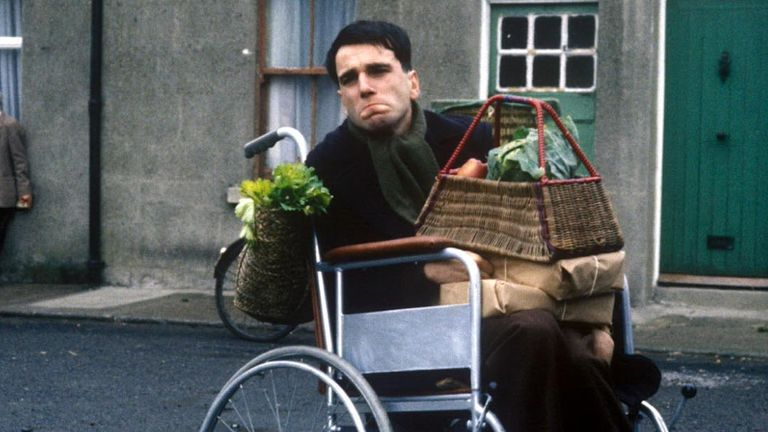 Daniel Day-Lewis in My Left Foot. Pic: ITV/Shutterstock