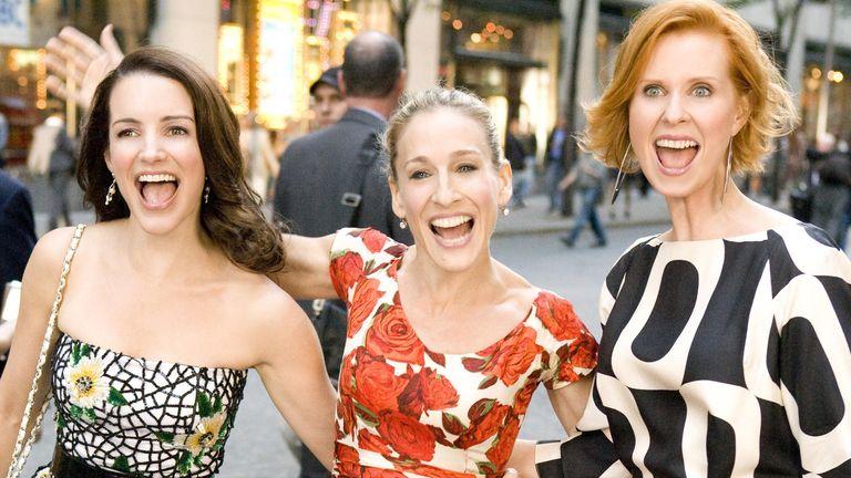 Kristin Davis, Sarah Jessica Parker, Cynthia Nixon. Pic: New Line/Kobal/Shutterstock