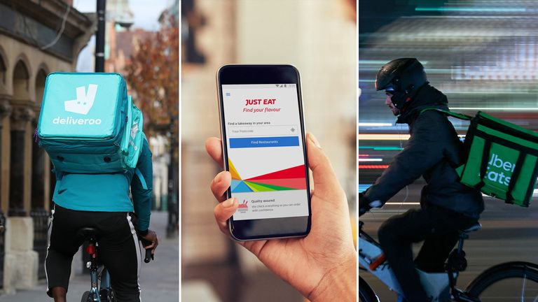 Deliveroo, Just Eat and Uber Eats have all seen a surge in demand during the pandemic