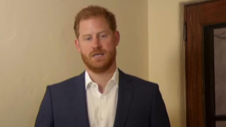 In a speech to The Diana Award, the Duke of Sussex said 'our mum believed that young people have the power to change the world'.