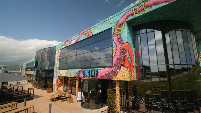Bar attached to Brewdog HQ in Aberdeenshire