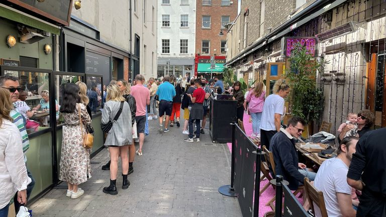 For the first time in six months, Dubliners can enjoy a drink at a pub garden
