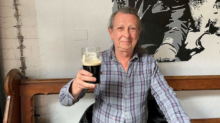 Anthony Ward enjoys a pint of Guinness