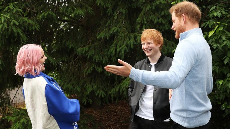The duke was joined by celebrities including Ed Sheeran and Anne-Marie