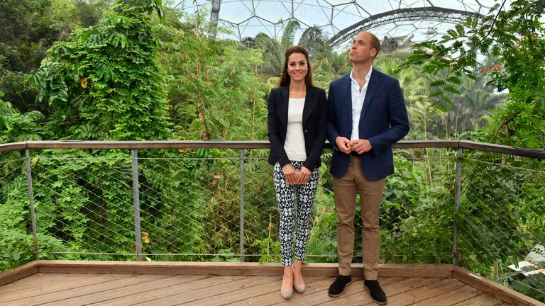 William and Kate on a previous visit to the Eden Project in September 2016
