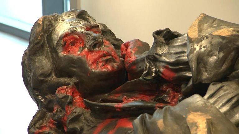 The downed statue of Edward Colston is going on display in museum