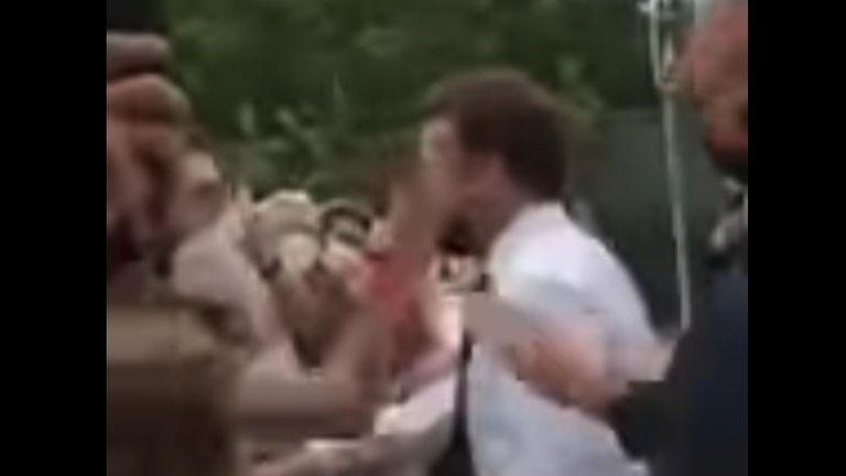 French president Emmanuel Macron slapped | World News | Sky News