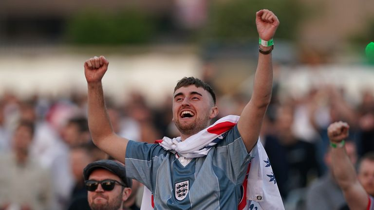 England finished top of their group after beating the Czech Republic