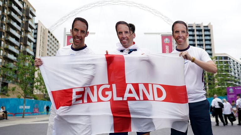 Fans arrive at Wembley ahead England's match with Germany