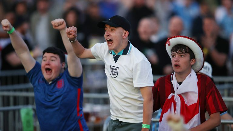 England fans were over their moon with their team's performance