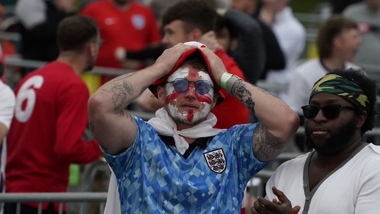 England fans were in despair as they watched a lacklustre performance by Southgate's side