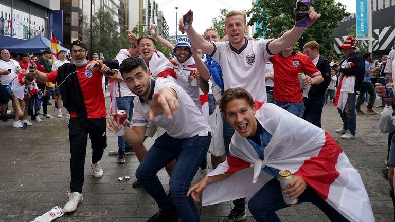 England fans arrive at Wembley
