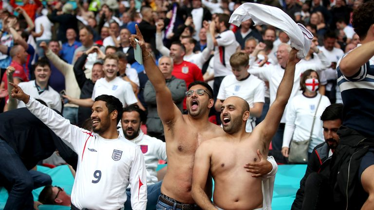 40,000 fans watched on as England knocked Germany out of Euro 2020