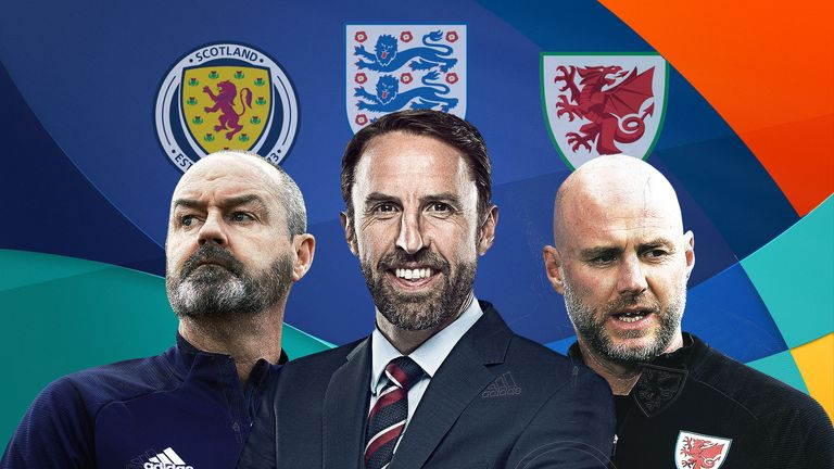 Scotland, England and Wales are competing in Euro 2020