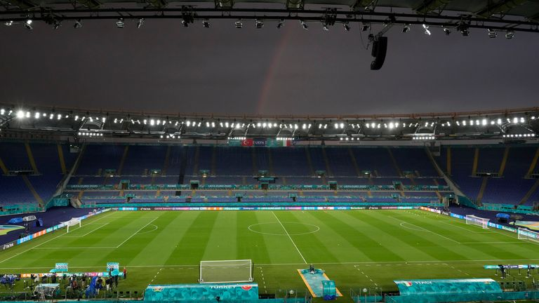 Stadio Olimpico in Rome will host the opening match of Euro 2020 - one of 11 stadiums where games will be held at the delayed tournament