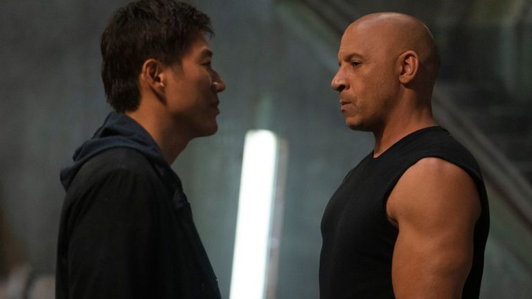 (from left) Han (Sung Kang) and Dom (Vin Diesel) in F9, co-written and directed by Justin Lin. Pic: AP