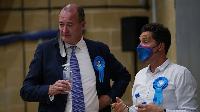Conservative candidate Peter Fleet (left), who was defeated