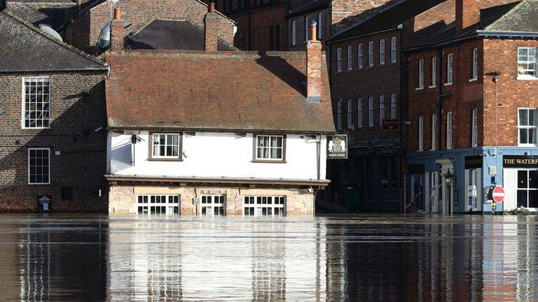 Floods in York in January