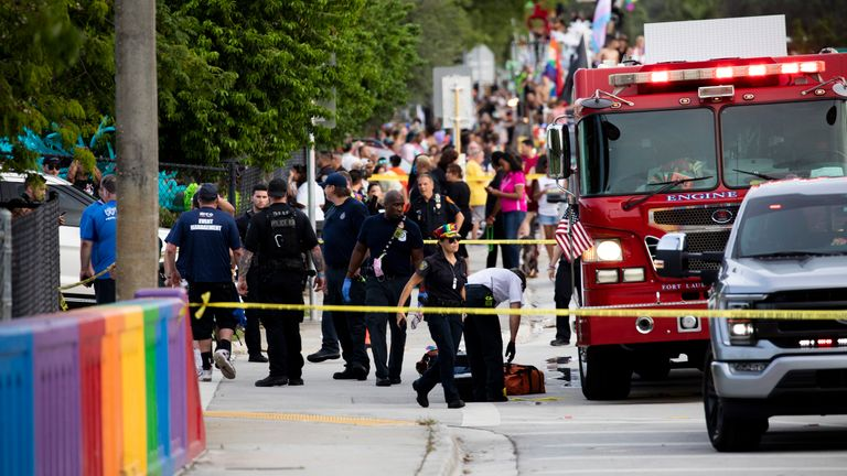 The truck driver drove into the crowd at the start of the parade, killing one person. Pic AP