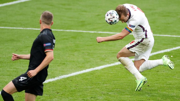 Soccer Football - Euro 2020 - Round of 16 - England v Germany - Wembley Stadium, London, Britain - June 29, 2021 England's Harry Kane scores their second goal Pool via REUTERS/John Sibley     TPX IMAGES OF THE DAY