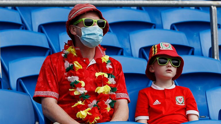 Wales fans. Pic: AP