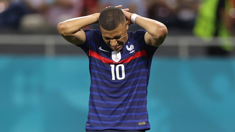 Kylian Mbappe missed the crucial penalty Pic: AP