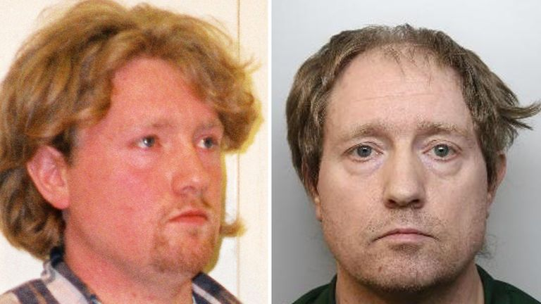 Gary Allen in the past and in a recent mugshot