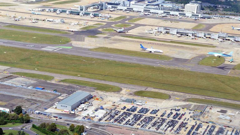 Gatwick is said t be one of the worst affected airports in Europe