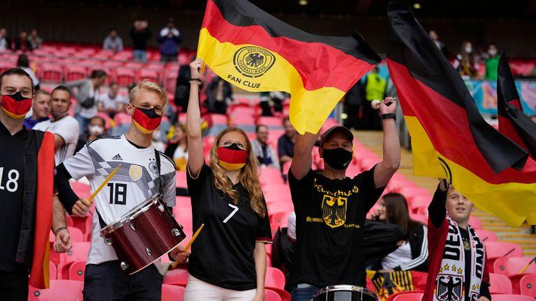 Germany fans inside Wembley