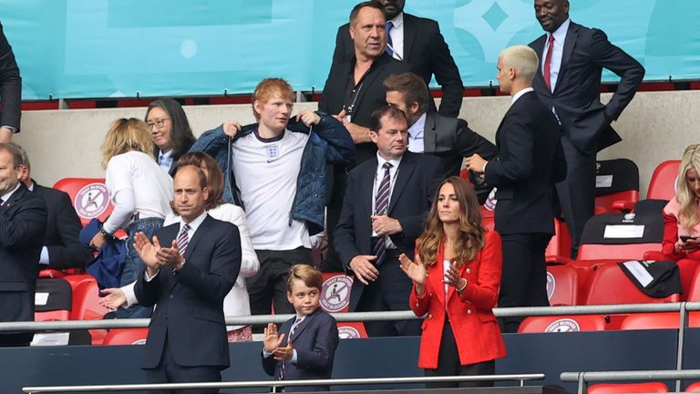 England were cheered on by royalty, former players and chart-toppers at Wembley